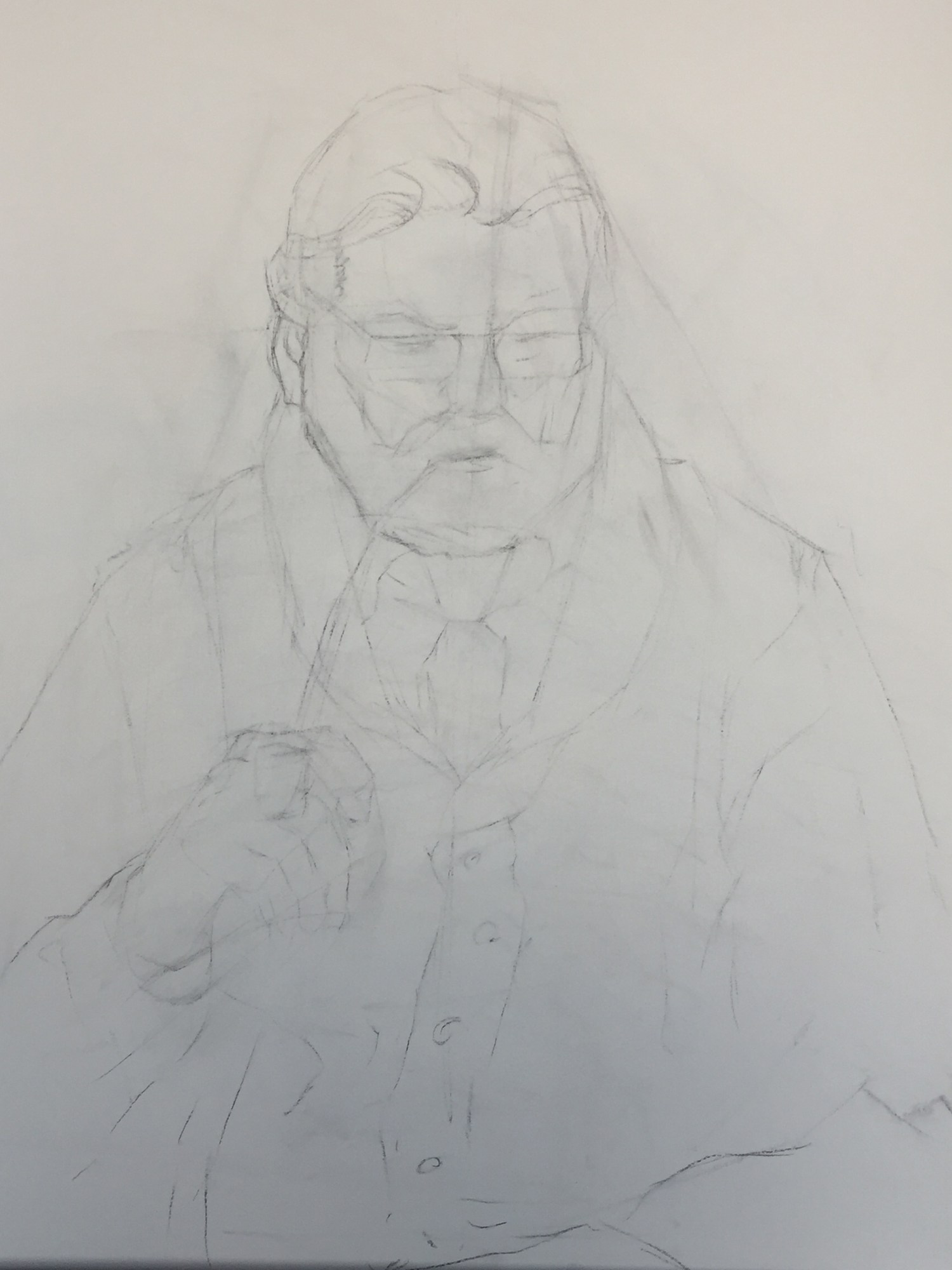 Figure Drawing | The Pastor | Scrubbed Lines