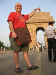 Adam at the India Gate