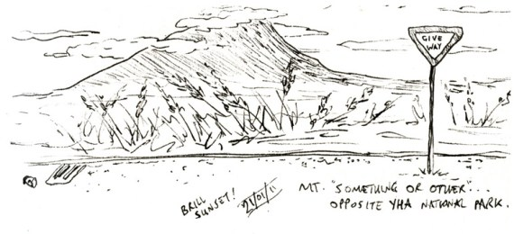 National Park sketch - New Zealand