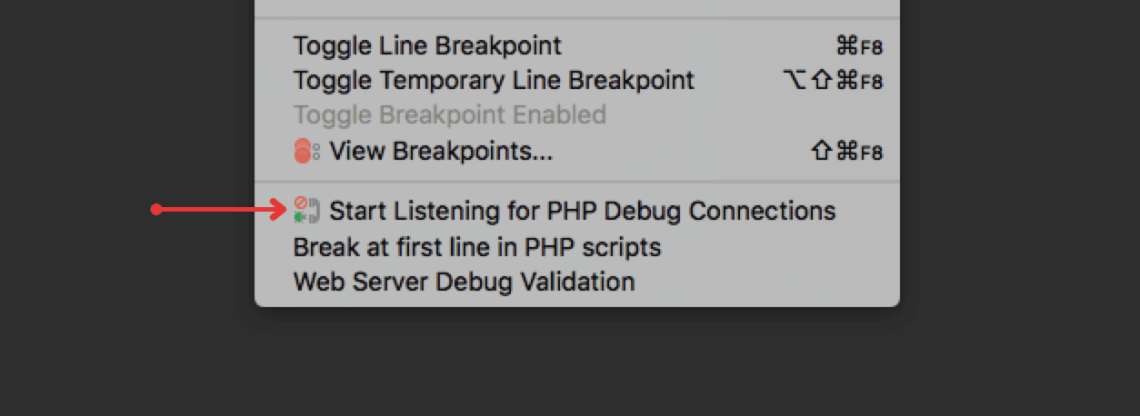 PhpStorm - Start Listening for PHP Debugger Connections