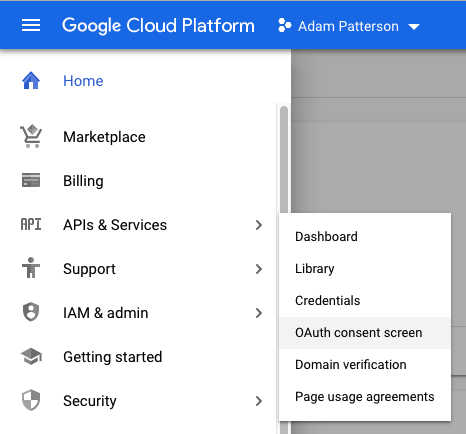 Google Site Kit - Google Cloud - OAuth Consent Screen