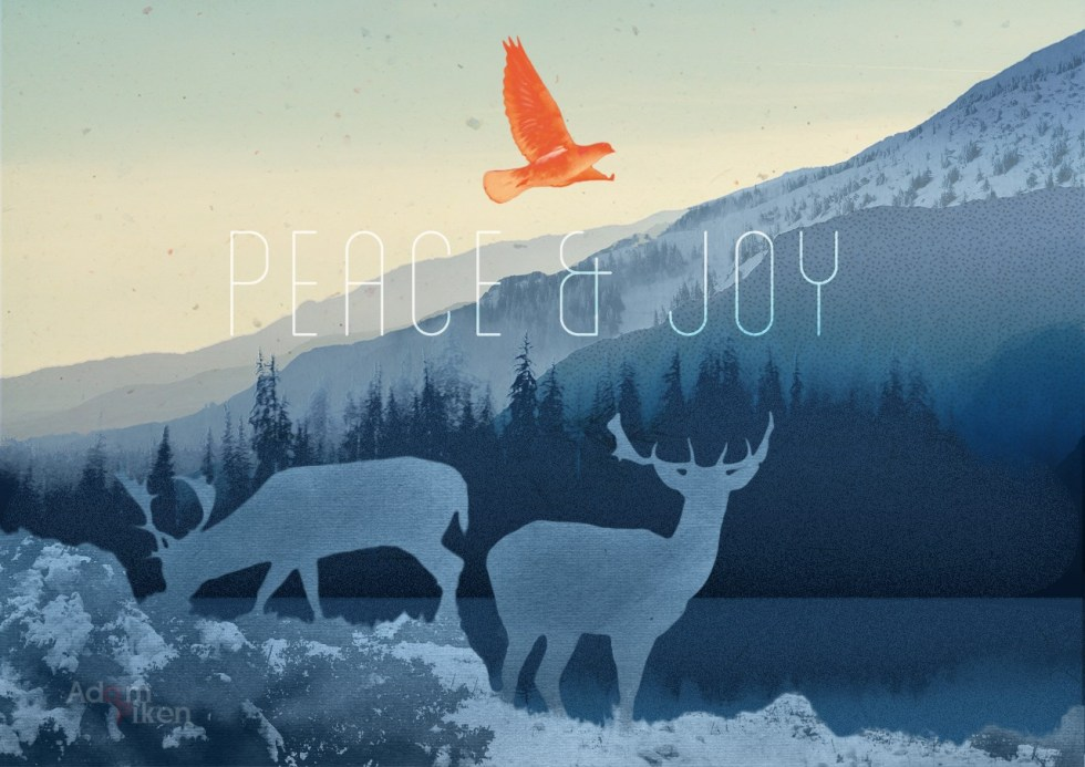 Peace & Joy Holiday Card - Landscape