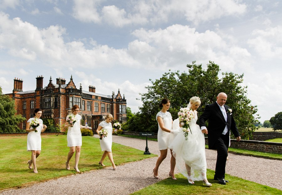 outdoor wedding arley hall