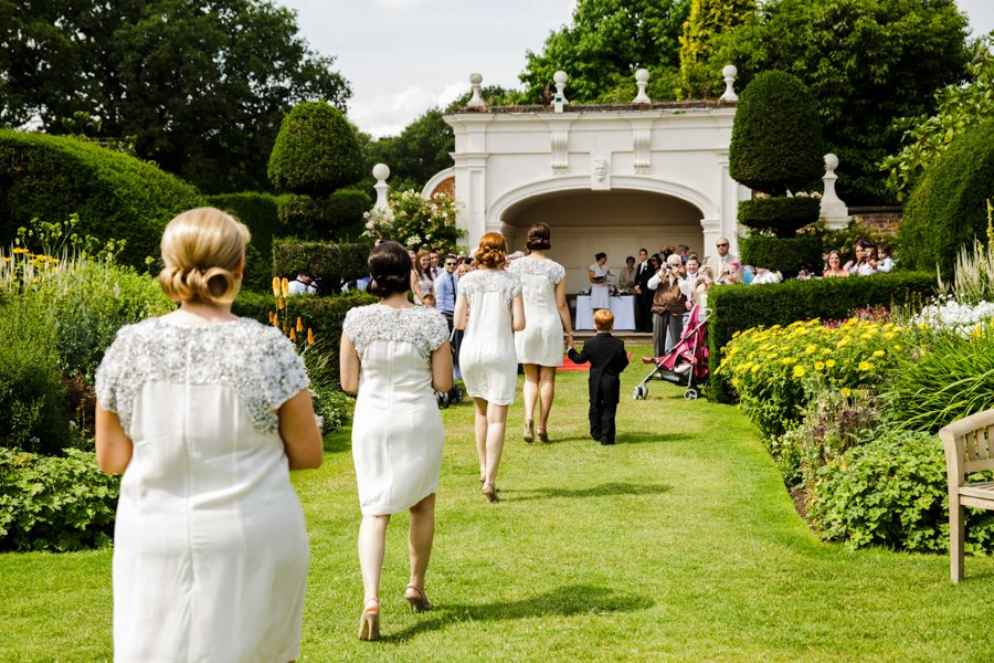 outdoor wedding ceremony england