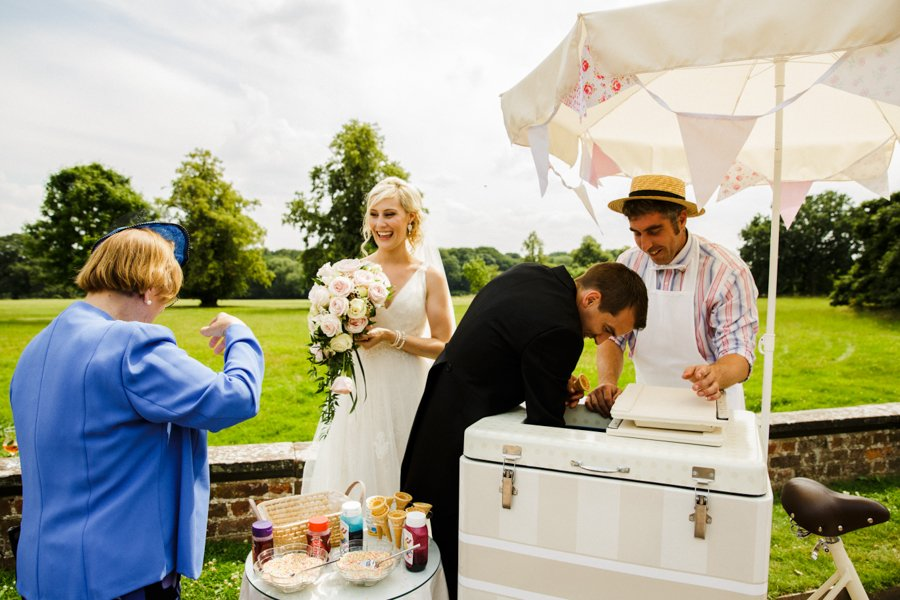 ice cream at wedding