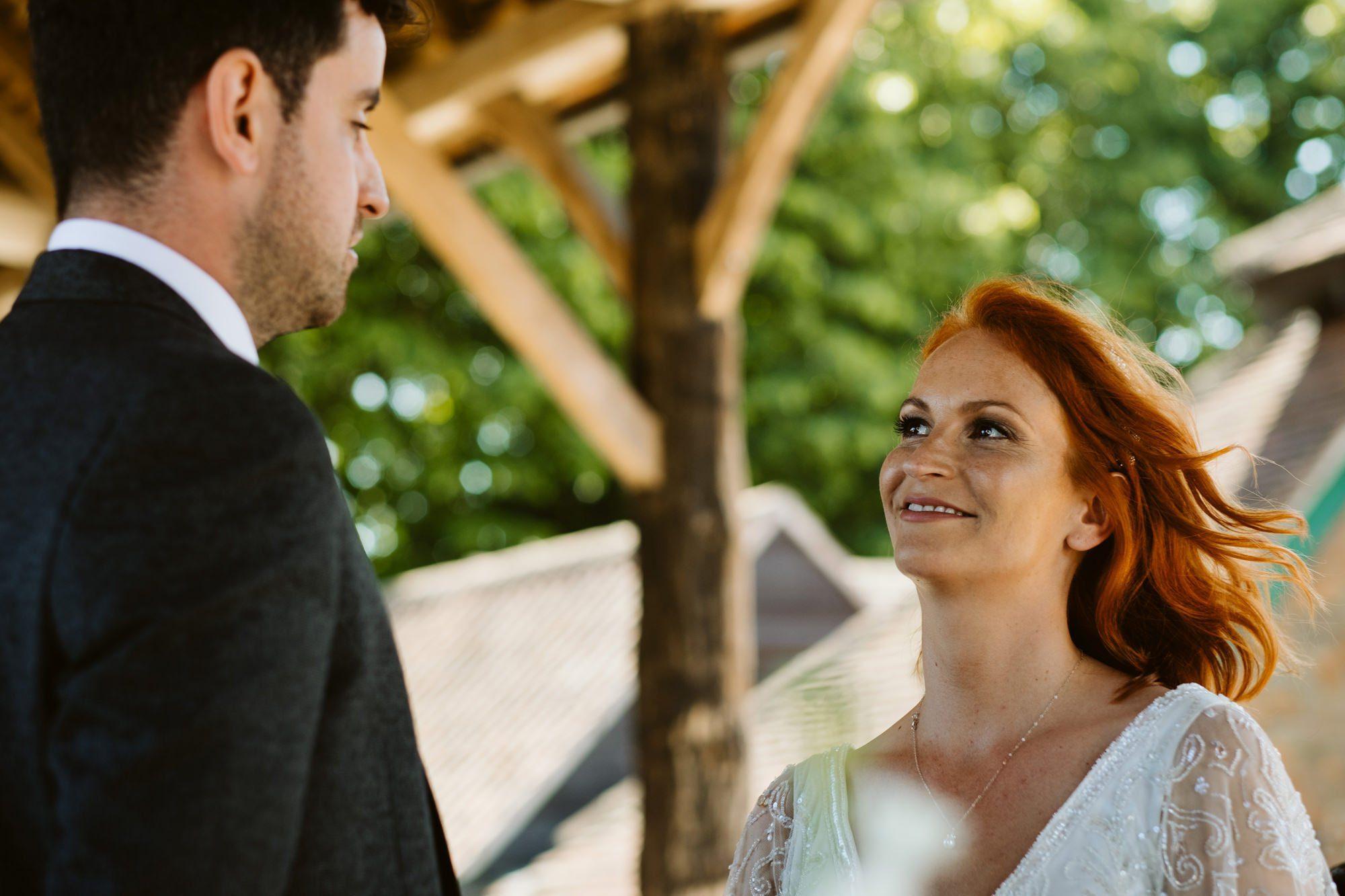 outdoor wedding gaynes park