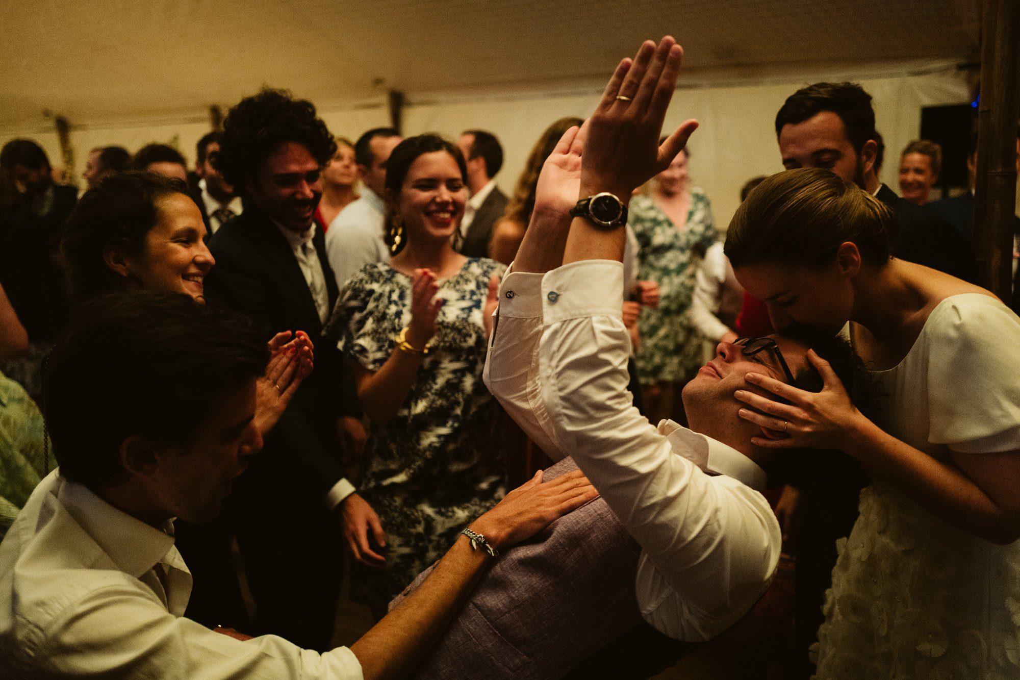 dancing french wedding