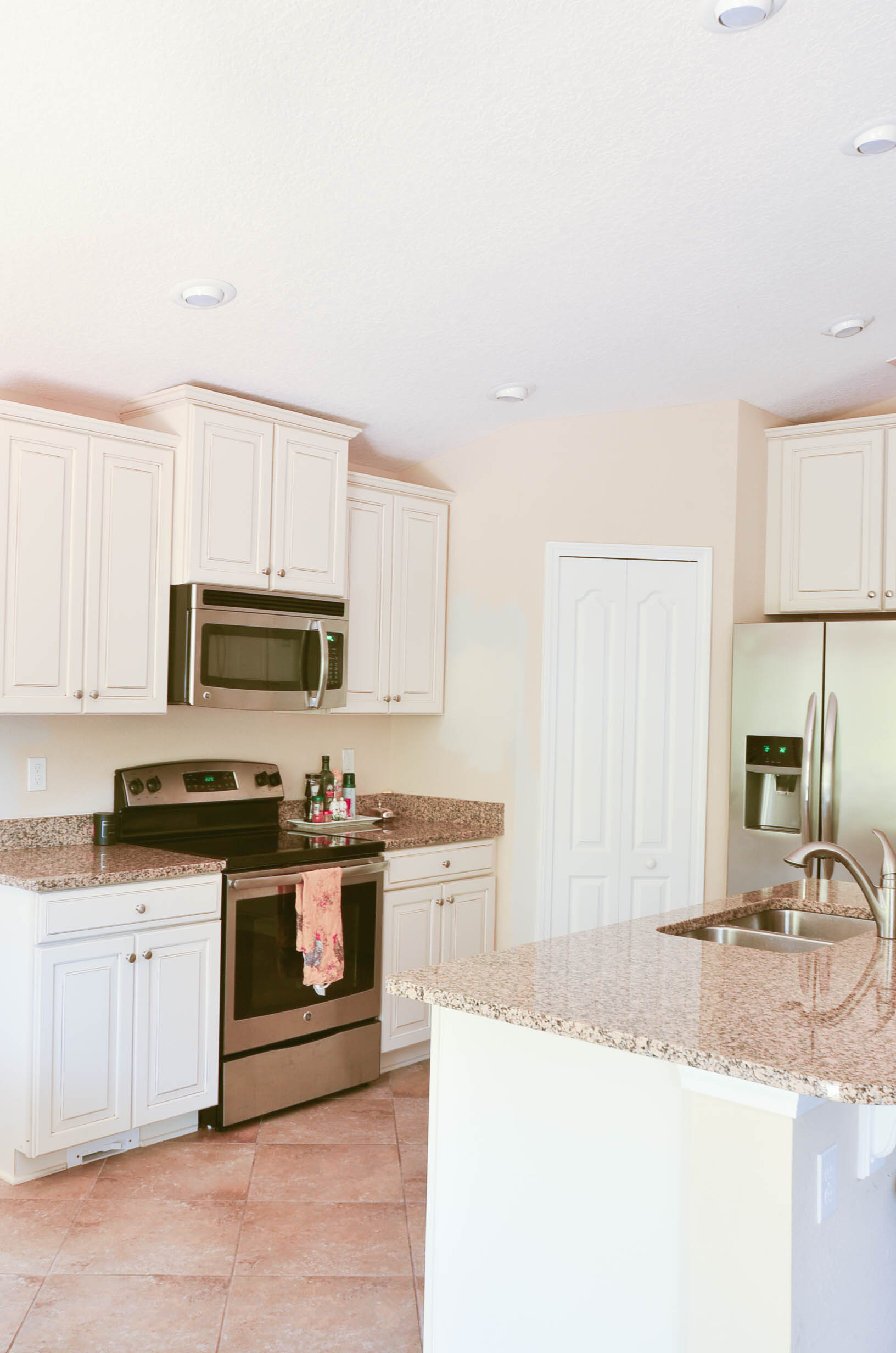 Kitchen Update Painted Cabinets And Shiplap Adams And Elm