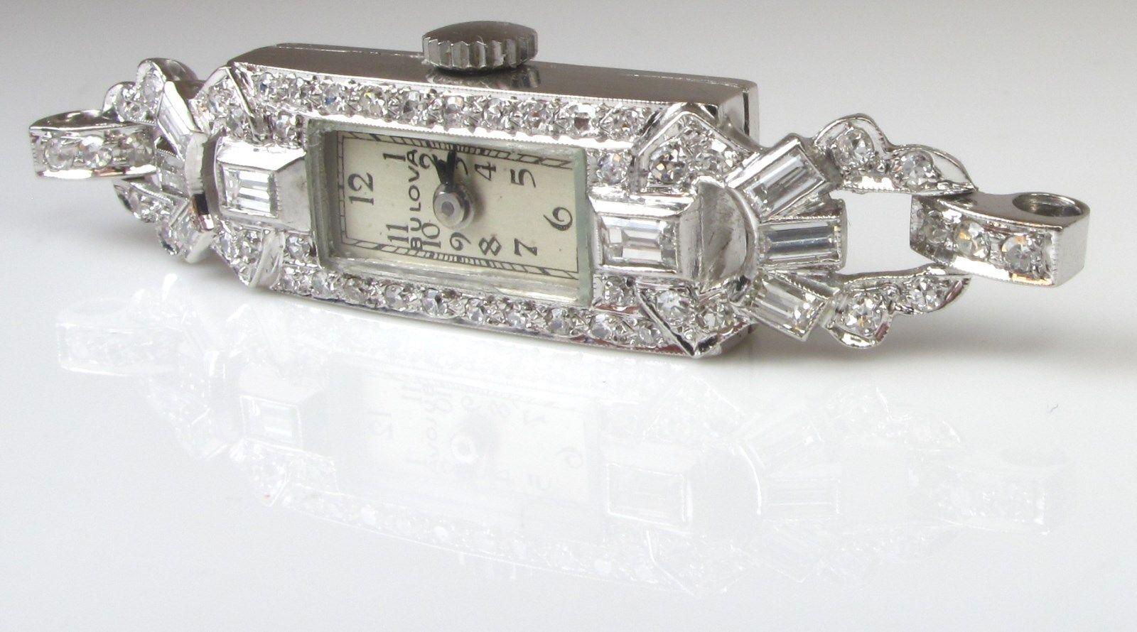 Antique Ladies Platinum Diamond Watch