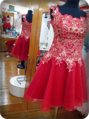 Hayal tül Kırmızı kına kıyafeti