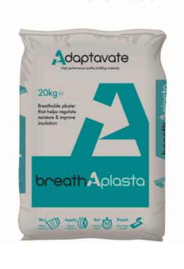 Breathaplasta hemp lime plaster. Healthy, natural non-toxic lime plaster