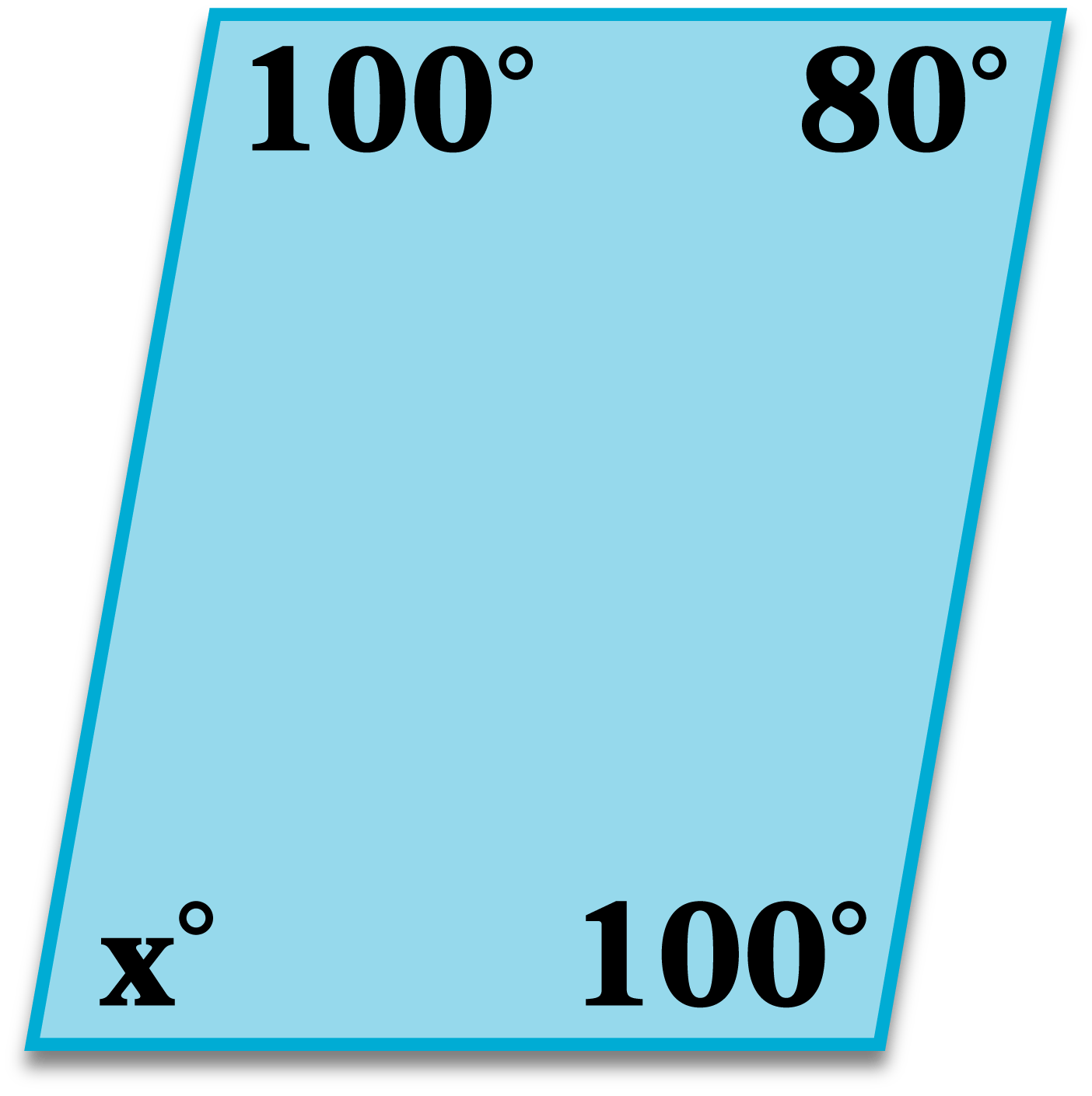 Quadrilateral Angles Worksheet