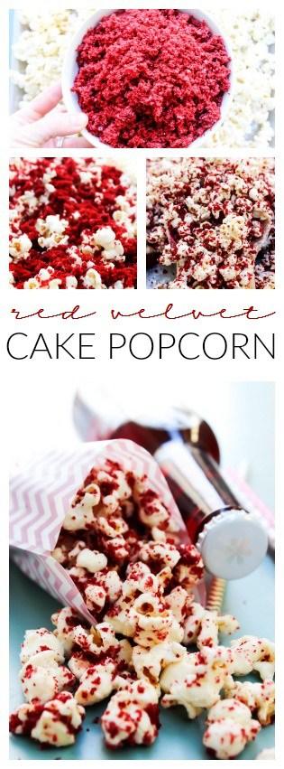 Red Velvet Cake Popcorn A Dash Of Sanity