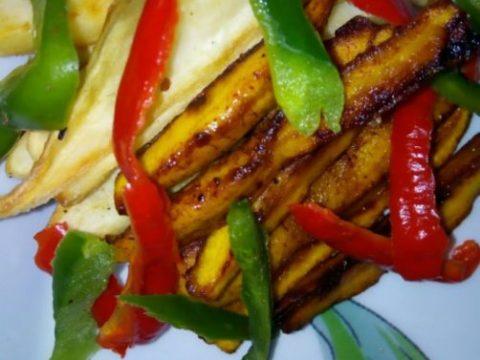 potatoes plantain fries
