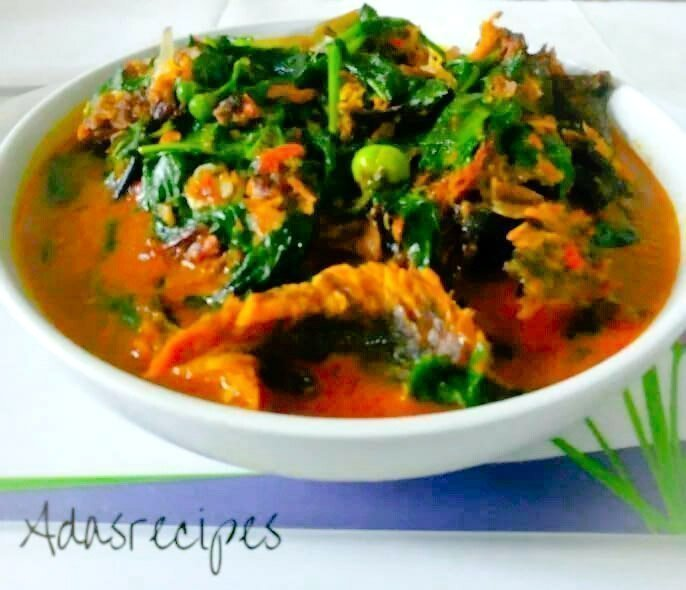 Garden egg leaf soup