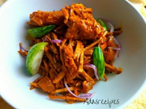 spicy shredded oil bean sauce (ugba)