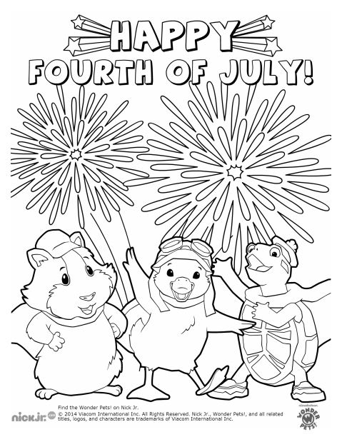 Wonder Pets Red, White and Blue FREE Printable Activity Book