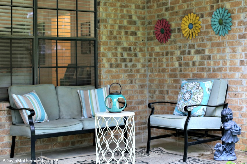 patio refresh for under 100 challenge