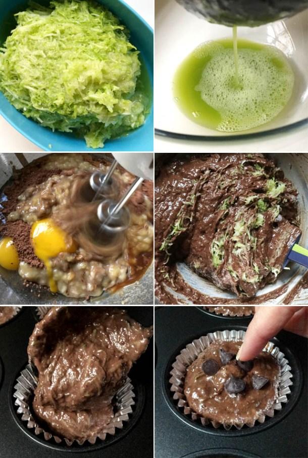 How to make chocolate chip zucchini muffins