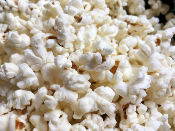 Close-up of Easy Perfect Stovetop Popcorn