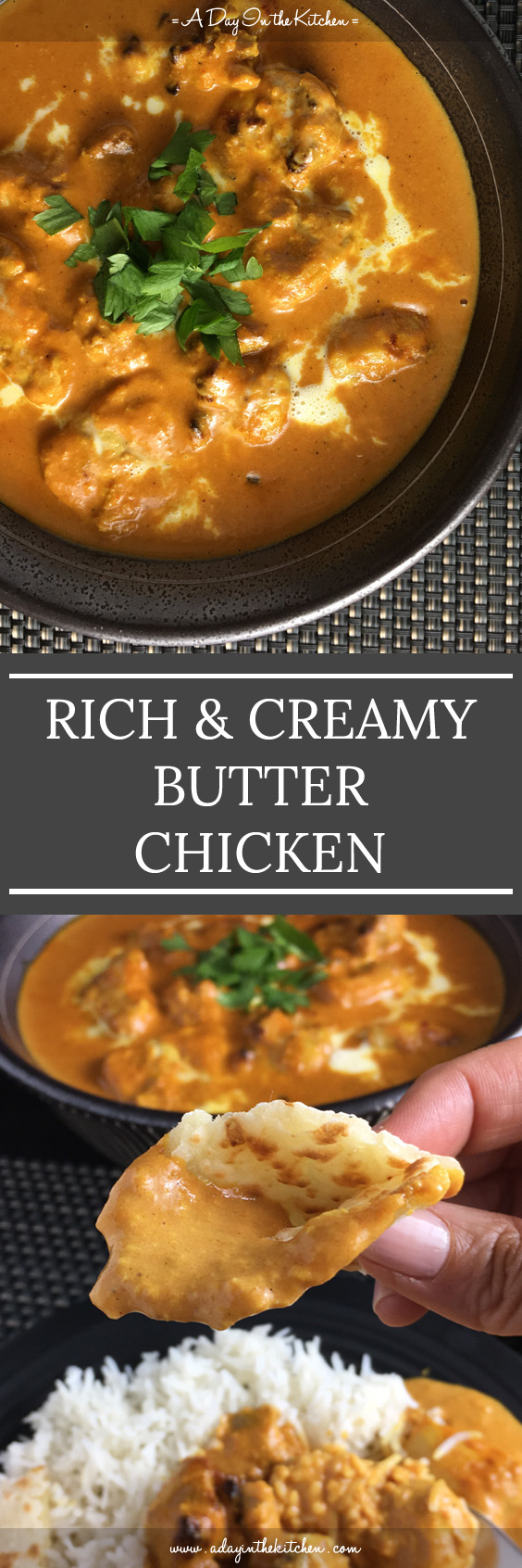Rich and Creamy Butter Chicken - You won't want to go out for Indian anymore after you learn how to make this insanely yummy butter chicken right in your own home! #indian #butterchicken #glutenfree #chicken