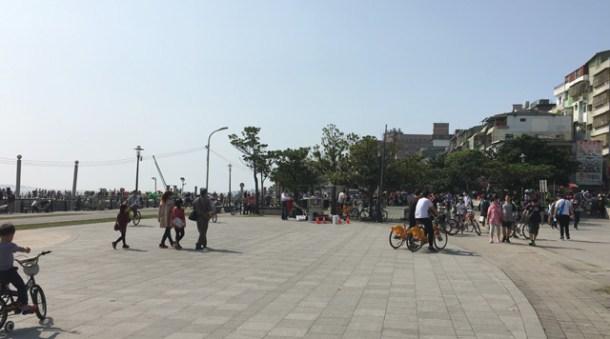 Open area in Tamsui in Taipei