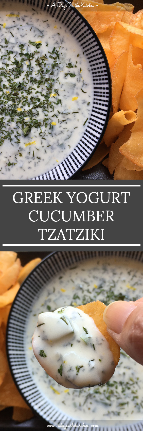Creamy Cucumber Tzatziki you can whip up right in your own kitchen! You won't do store-bought again after you see how easy this is to make! #tzatziki #greekyogurt #cucumbertzatziki #glutenfree #dips