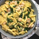Garlic Shrimp Spinach One Pan Pasta