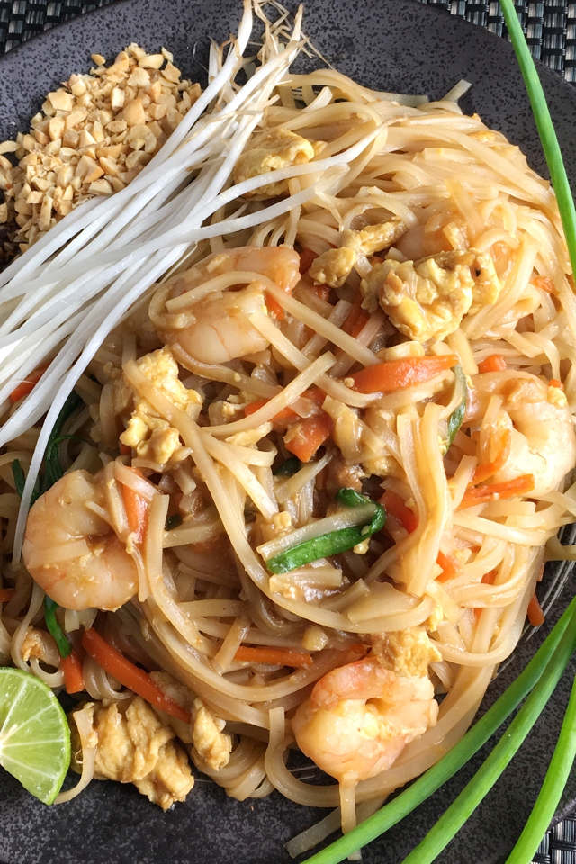 A plate of Shrimp Pad Thai - Favorites of 2018