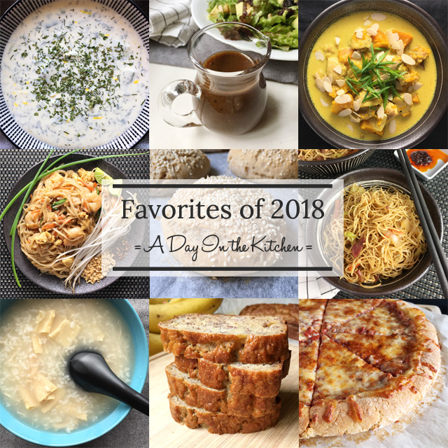 A collage of recipe photos for Favorites of 2018
