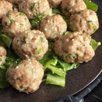 Asian Pork and Shrimp Meatballs