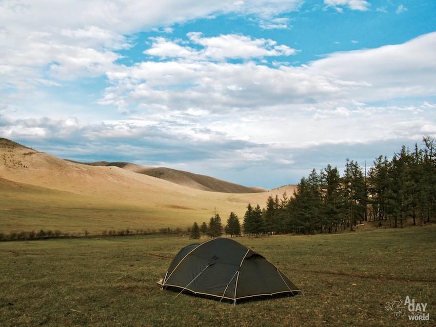 dormir dans une tente mongolie