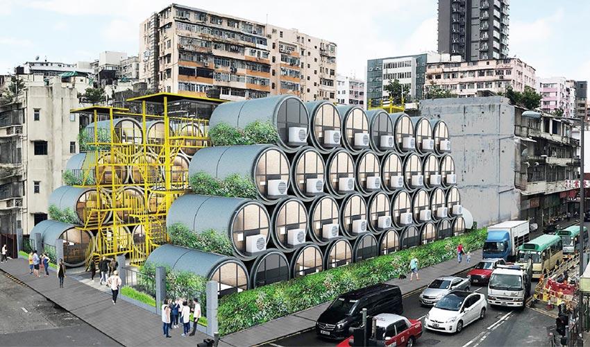 香港的「OPod Tube Housing」水管屋,是我們都可以負擔的設計住宅 ‧ A Day Magazine