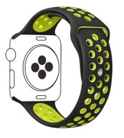 green black apple watch bands silicone