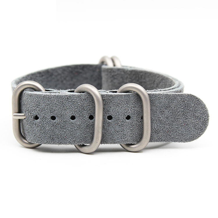 zulu watch strap gray suede leather