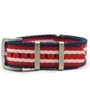 china nato straps factory navy blue red white james bond heavy duty brushed