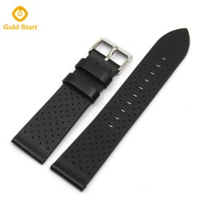 black leather watch straps