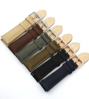 suede watch strap cow leather 20mm