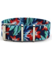 nato watch straps floral printed nylon