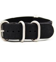 black zulu strap vintage crazy horse leather