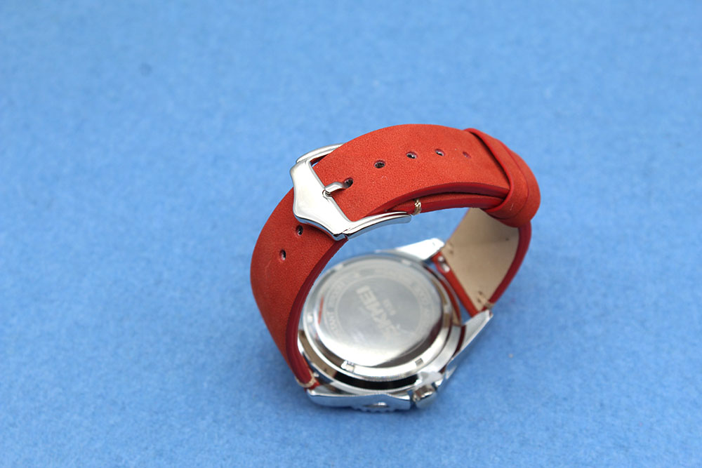 red suede leather 20mm watch band