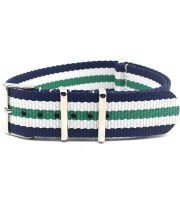 blue white green nylon watch strap nato dw