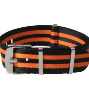 black orange nato watchbands nylon polished hardware
