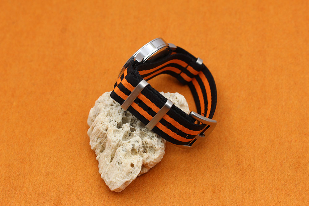 black orange nato strap wholesale china manufacturer