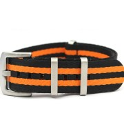 black orange nato strap nylon seatbelt james bond