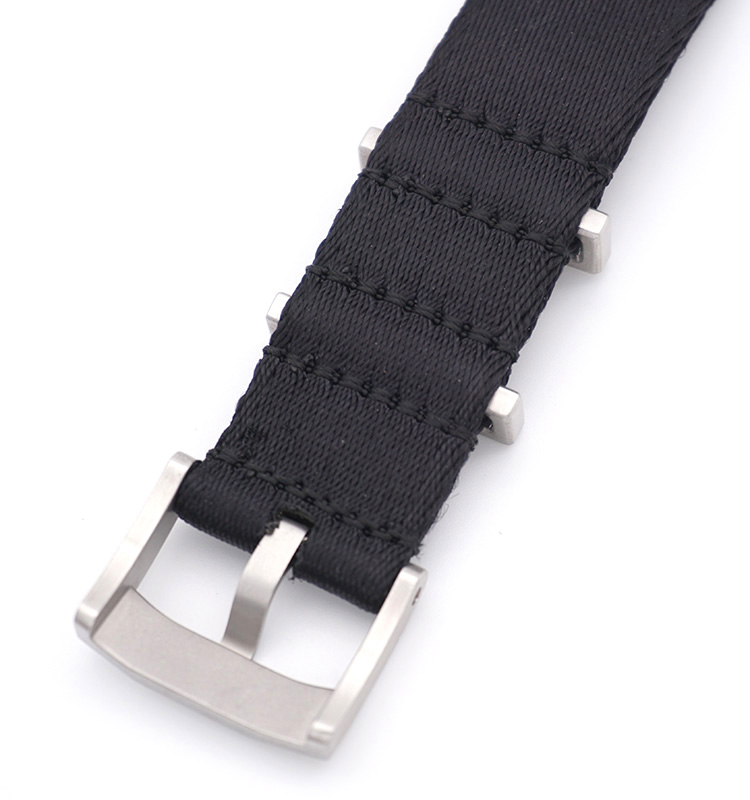 black nato strap nylon havy duty brushed hardware