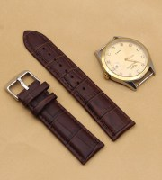 alligator watch strap brown genuine leather crocodile