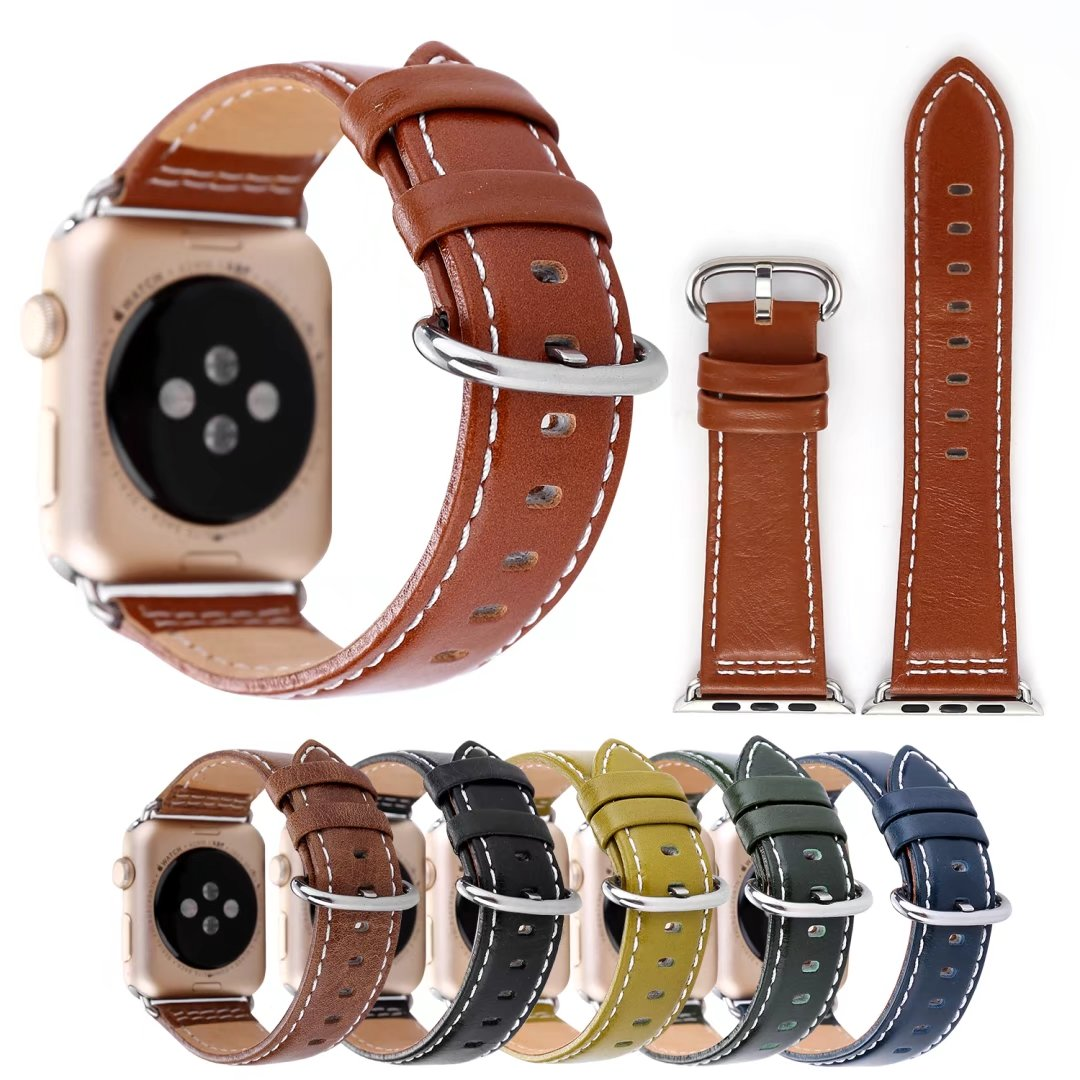 Real leather apple watch band 38mm 42mm