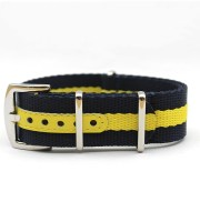 seat belt straps nato blue yellow 22mm