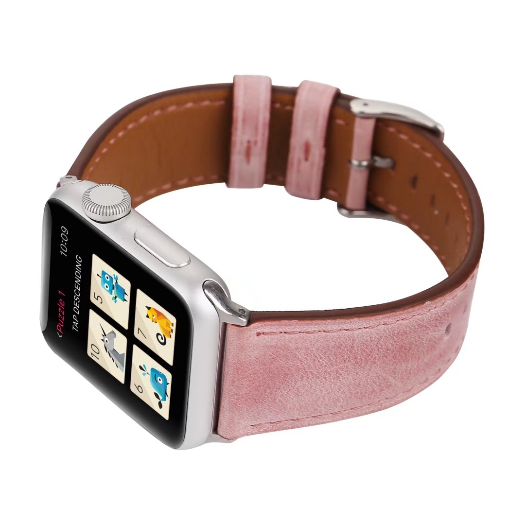 pink leather watch straps apple watch 22mm china